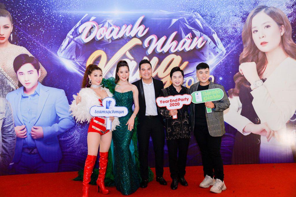 Dan ngoi sao dinh dam tham gia su kien Year End Party Doanh Nhan Vang 2020 cua doanh nghiep Cenly Organic