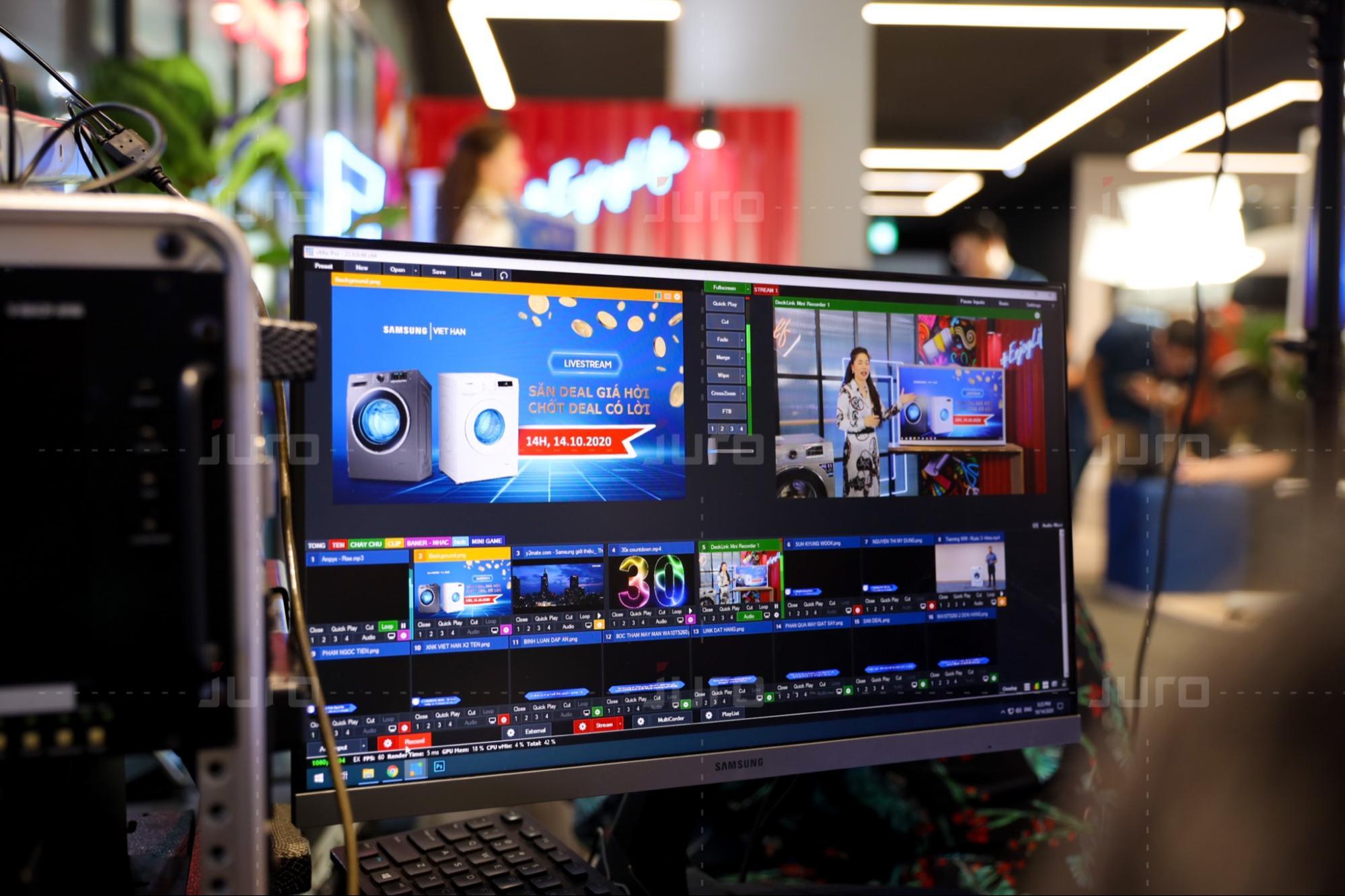 JURO cung cấp dịch vụ Livestream tại TP Hồ Chí Minh
