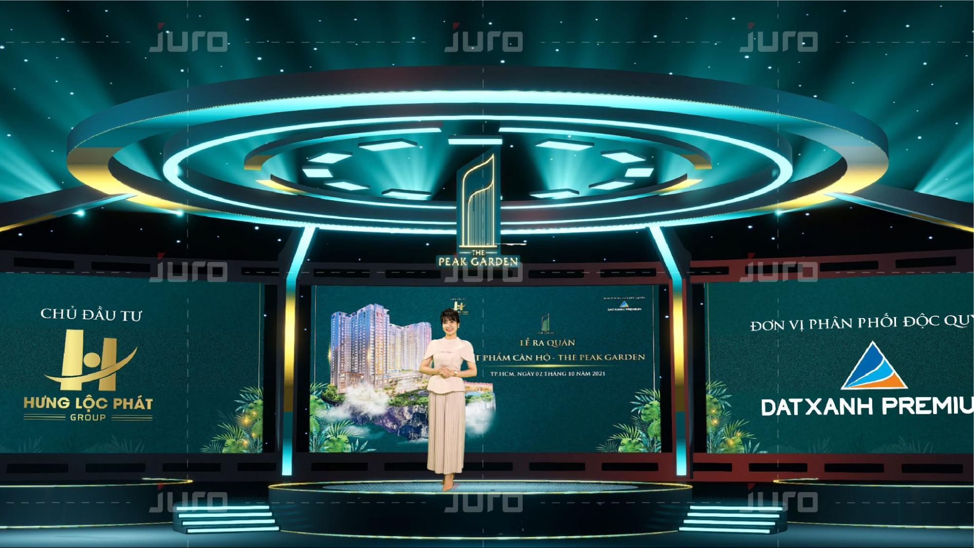 Juro tổ chức dịch vụ trường quay ảo