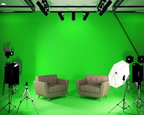 studio big modern film studio with green screen 3d rendering 43151 121